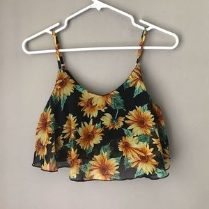 ocean drive sunflower top